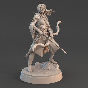 3D elf archer