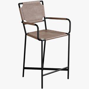 3D realistic laredo counter stool