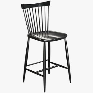 realistic marlow bar stool model