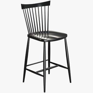 realistic marlow bar stool model