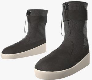 black ski lounge boots 3D model