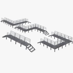 3D roof roads model