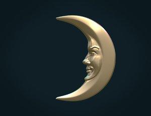 3D crescent relief