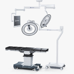 3D table merivaara surgical light