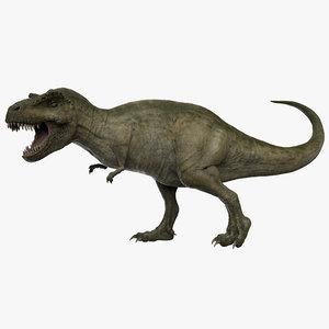 rigged tyrannosaurus rex t-rex 3D model