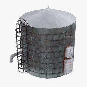 3D model water tank roof