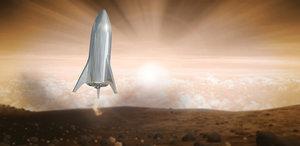 3D model elon musk starship