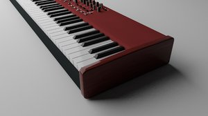 3D keyboard modeled model