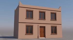 moroccan house marrakech 3D model