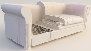 3D sofa infographic visualization model