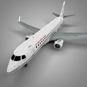 royal air maroc embraer190 3D model