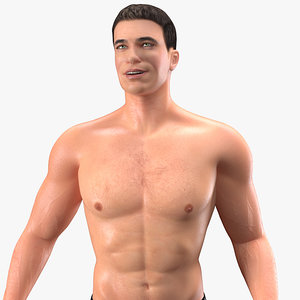 3D fit athletic man rigged