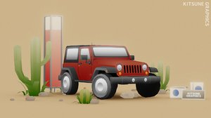 3D vehicle jeep wrangler model