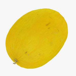 3D canary melon 01 raw