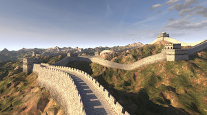 great wall china 3D