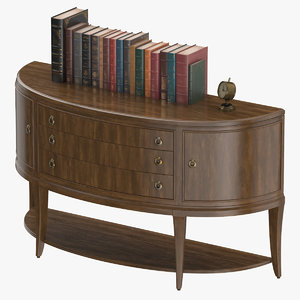 3D classical office console