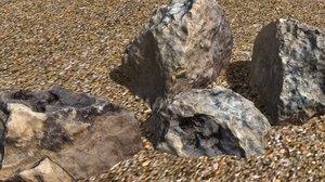 3D scanned rock