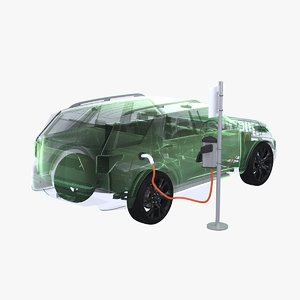4x4 hybrid chargepoint x-ray 3D model