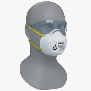 3D model n95 respirators masks face