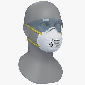 3D model n95 respirators masks face