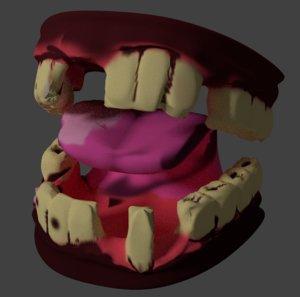 blender rotten teeth 3D model