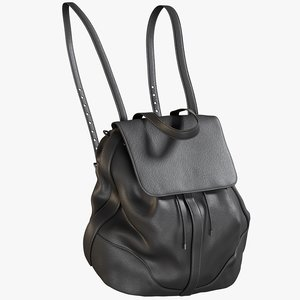 realistic women s backpack 3D