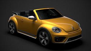 beetle dune convertible 2020 3D