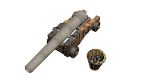 old cannon vessel model