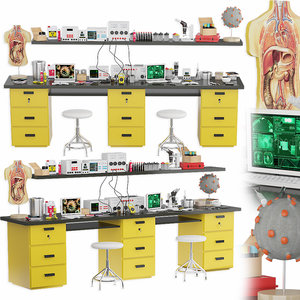 3D medical laboratory equipment model