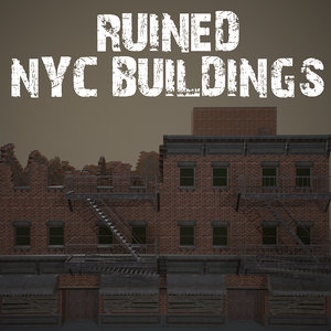 ruined nyc buildings 3D
