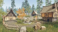 Medieval Houses and Props - Game Props