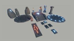 3d model runes props