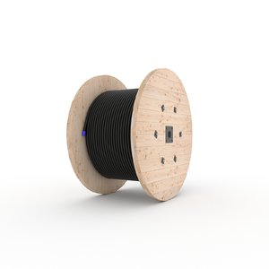 cable wood 3D model