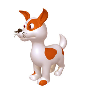 3D model dog cartoon