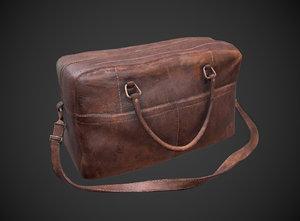 leather bag 3D