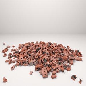 3D brick corona materials