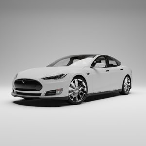 3D rigged tesla car s model