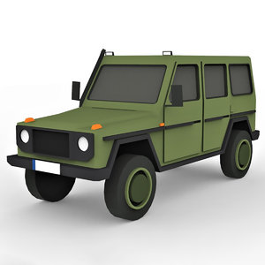 cartoon military suv model