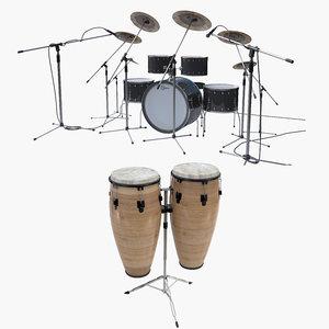 percussion set 2 3D model