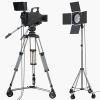 TV Studio Camera and Light