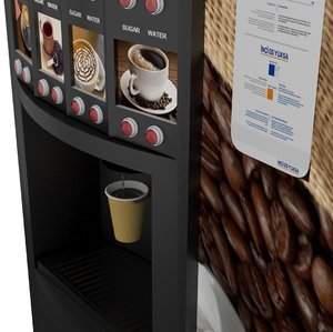 3D coffee vending machine model