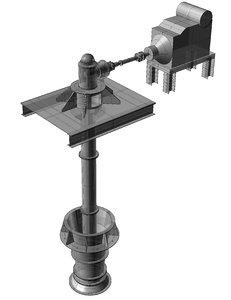 3D axial pump flow