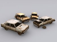 2 Low poly Cars with destroyed versions