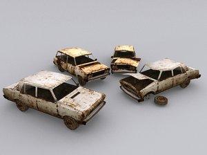 3D 2 versions model