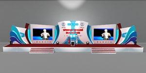3D stage scene