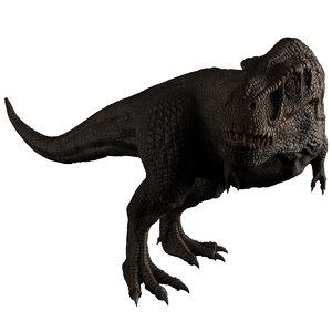 3D model descendant tyrannosaurus rex magnus