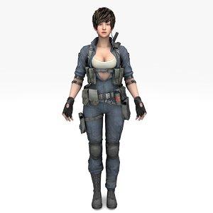 3D warrior girl inna