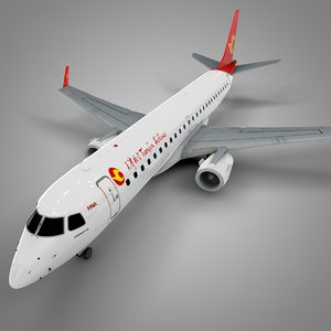 tianjin airlines embraer190 l639 3D model