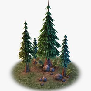 3D model ready forest