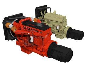 3D diesel engines truck